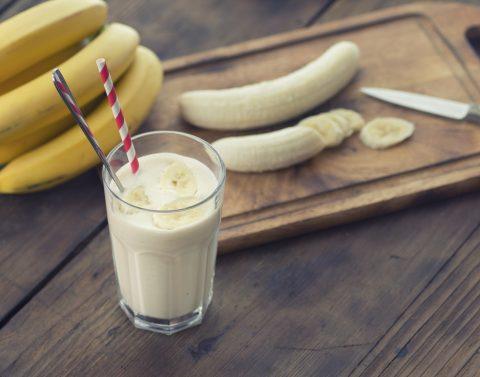Receita de batido de banana com liquidificador
