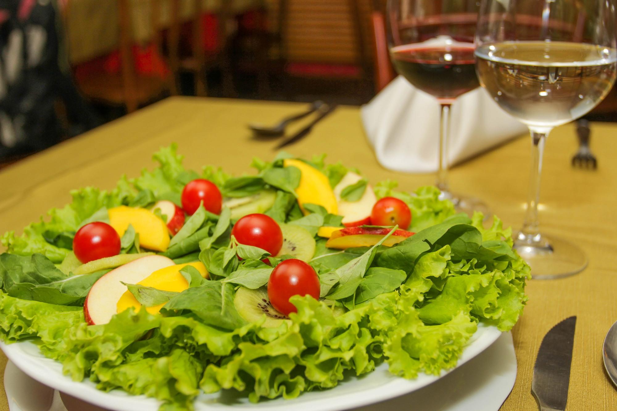 Receita de salada de kiwi para a digestão
