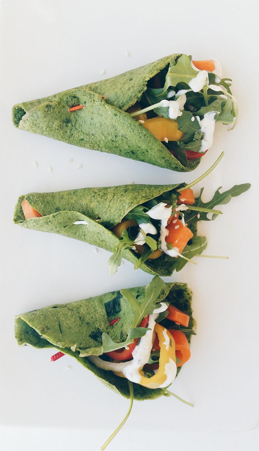 Receita: Wraps de Espinafres