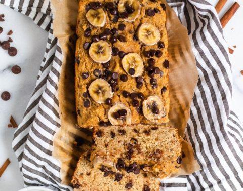 Pão de Banana e Pepitas de Chocolate